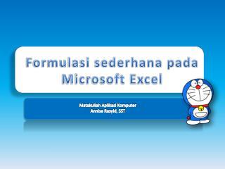 Formulasi sederhana pada Microsoft Excel