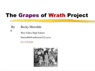 The Grapes of Wrath Project