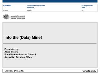 Into the (Data) Mine!