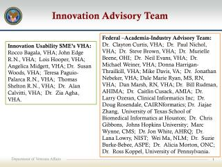 Innovation Advisory Team