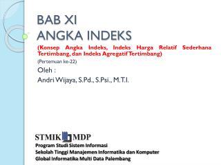 BAB XI ANGKA INDEKS