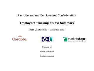 Recruitment and Employment Confederation Employers Tracking Study: Summary