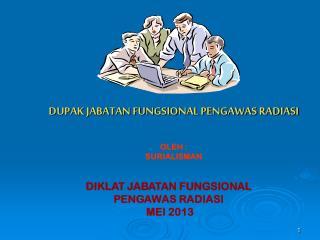 DUPAK JABATAN FUNGSIONAL PENGAWAS RADIASI