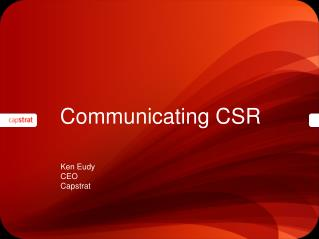 Communicating CSR