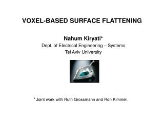 VOXEL-BASED SURFACE FLATTENING