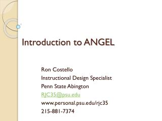 Introduction to ANGEL