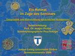 Ein Referat im Zuge des Seminars    Diagnostik und Entwicklung sprachlicher Kompetenz   Seminarleitung: Prof. Dr. Holger