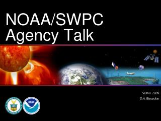NOAA/SWPC Agency Talk