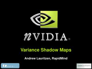 Variance Shadow Maps