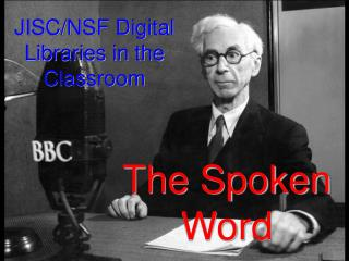 JISC/NSF Digital Libraries in the Classroom
