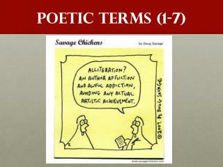 POETIC TERMS (1-7)