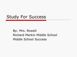 Study For Success