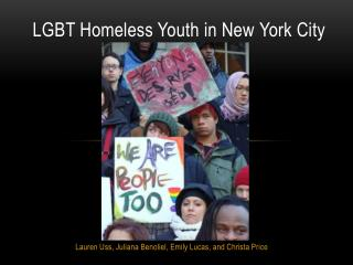 LGBT Homeless Youth in New  Y ork  C ity