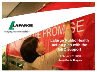 Lafarge Public Health action plan with the GBC support
