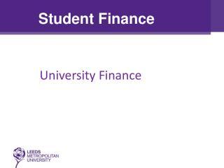 University Finance