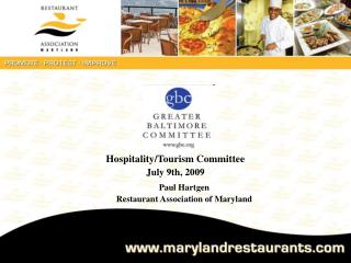 Hospitality/TourismCommittee July 9th, 2009
