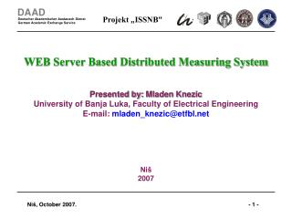 WEB Server Based Distributed Measuring System