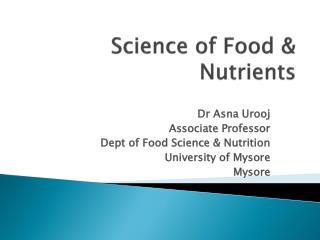 Science of Food & Nutrients