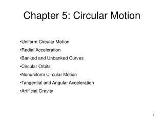 Chapter 5: Circular Motion