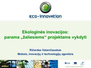 Ekologin?s inovacijos: parama ��aliesiems� projektams vykdyti