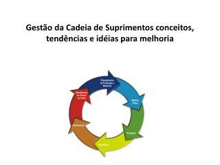 Gestão da Cadeia de Suprimentos conceitos, tendências e idéias para melhoria
