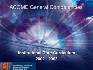 ACGME General Competencies