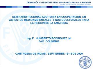 LA FAO EN COLOMBIA