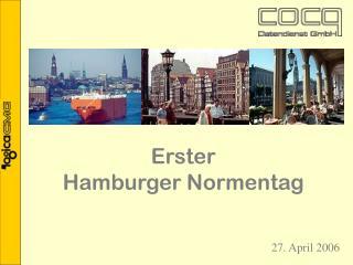 Erster  Hamburger Normentag