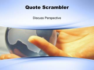 Quote Scrambler