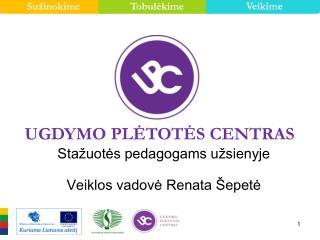 Stažuotės pedagogams užsienyje Veiklos vadovė Renata Šepetė