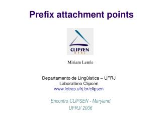 Prefix attachment points
