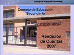 Consejo de Educaci n Secundaria