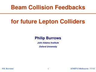 Beam Collision Feedbacks  for future Lepton Colliders