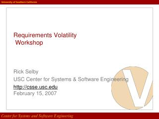 Requirements Volatility  Workshop
