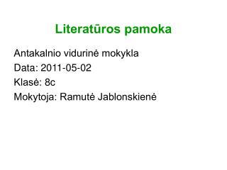 Literatūros pamoka