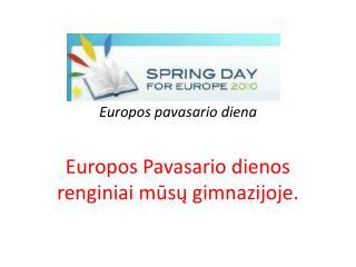 Europos pavasario diena