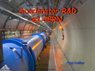 Accelerator R&D   at CERN