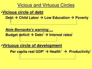 Vicious and Virtuous Circles