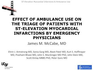 James M. McCabe, MD