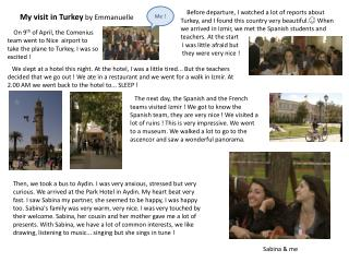 My visit  in  Turkey by Emmanuelle