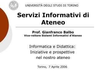 Servizi Informativi di Ateneo