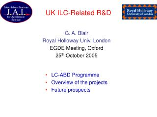 UK ILC-Related R&D