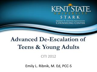 Advanced De-Escalation of Teens & Young Adults