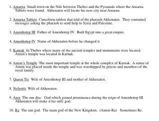 Akhenaten 2011 Terms