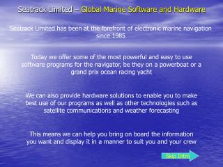 Seatrack Limited   Global Marine Software and Hardware