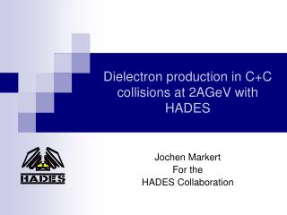 Dielectron production in C+C collisions at 2AGeV with HADES