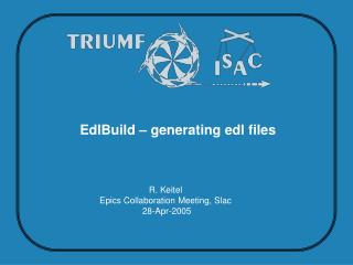 EdlBuild – generating edl files