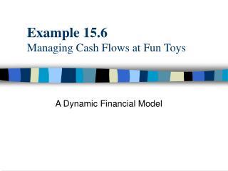 Example 15.6 Managing Cash Flows at Fun Toys