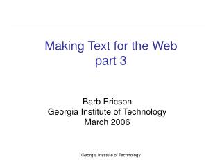Making Text for the Web part 3