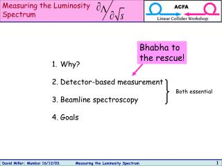Measuring the Luminosity  Spectrum